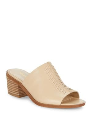 Rahima Leather Heeled Slides by Nine West