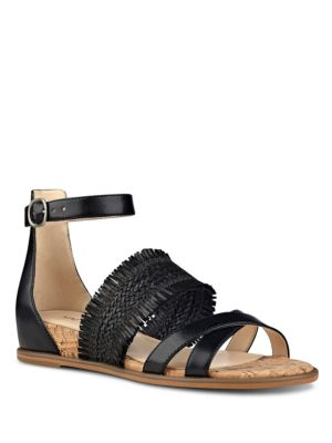 Vernell Fringed Demi Wedge Sandals by Nine West