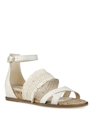Photo of Vernell Open-Toe Leather Sandals by Nine West - shop Nine West shoes sales