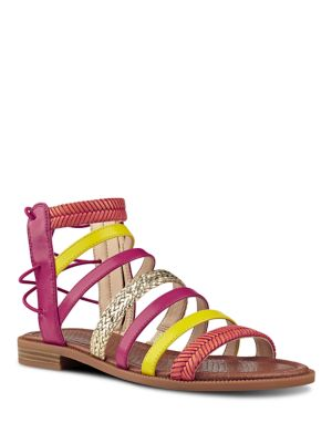 Xema Leather Caged Sandals by Nine West