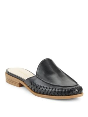 Photo of Juanita Leather Closed Toe Mules by Nine West - shop Nine West shoes sales