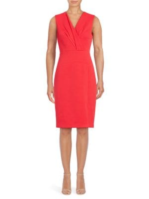 Solid Sleeveless Sheath Dress by Vince Camuto