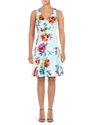 Marlowe Floral Printed Sundress by Adrianna Papell