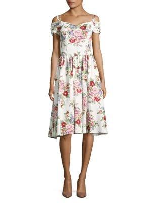 Floral-Print Fit-&-Flare Dress by Chetta B