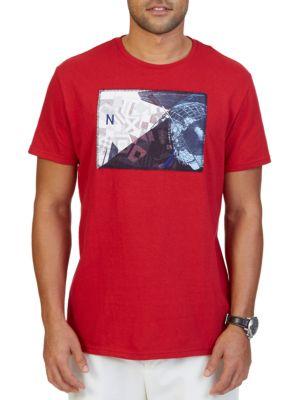 Big & Tall Collage Graphic Print Crewneck T-Shirt by Nautica Big And Tall