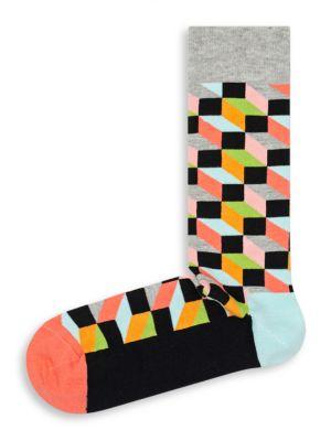 Multi-Hued Print Crew Socks by Happy Socks