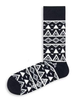Triangle Print Crew Socks by Happy Socks
