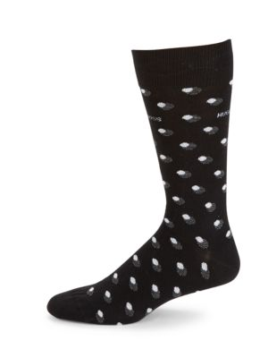 Dot-Print Cotton-Blend Socks by HUGO BOSS