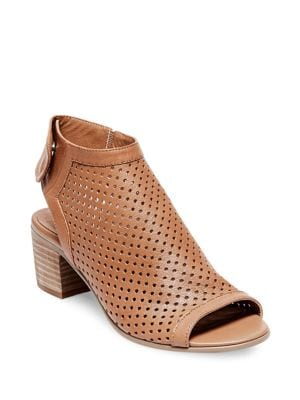 Buy Sambar Perforated Leather Sandals by Steven by Steve Madden online