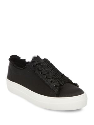 Fringed Lace-Up Sneakers by Steve Madden