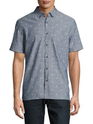 Palm Tree Print Sportshirt by Sovereign Code
