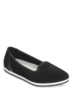 Smart Move Perforated Leather Slip On Sneakers by Aerosoles