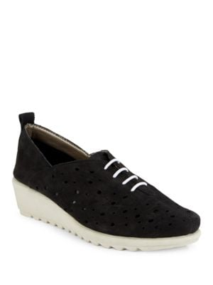 Run Crazy Too Perforated Leather Sneakers by The Flexx