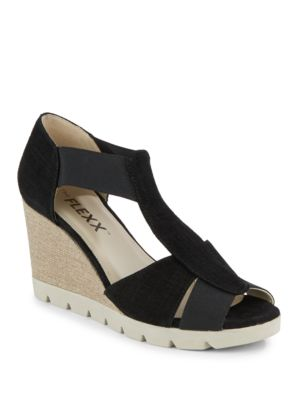 Lotto Wedge Sandals by The Flexx