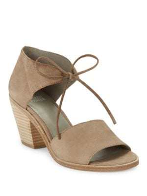 Ann Beile Self-Tie Leather Sandals by Eileen Fisher