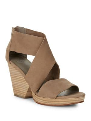 Ellis Suede Platform Sandals by Eileen Fisher