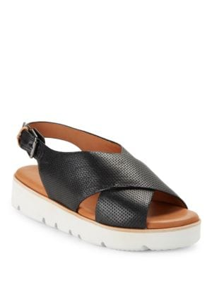 Kiki Embossed Leather Platform Sandals by Gentle Souls