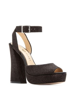Maggie Embossed Block-Heel Sandals by Katy Perry