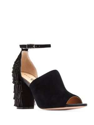 Mia Fringed Peep Toe Pumps by Katy Perry
