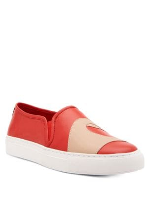 ??eart Leather Slip-On Sneakers by Katy Perry
