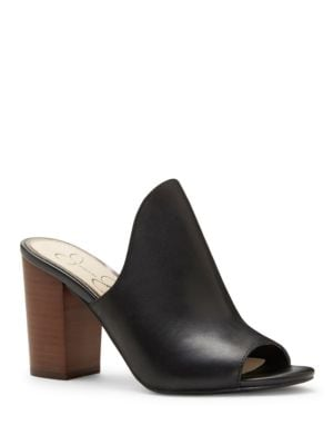Rainn Leather Mules by Jessica Simpson