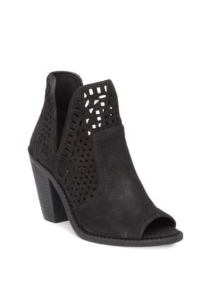 Lasercut Peep Toe Ankle Boots by Jessica Simpson