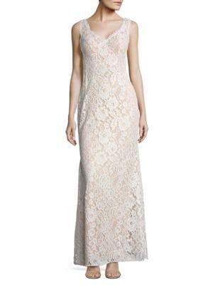 Sleeveless Lace Gown by Aidan Aidan Mattox