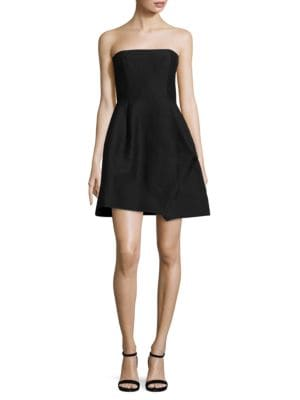 Strapless Faille Dress by Halston Heritage