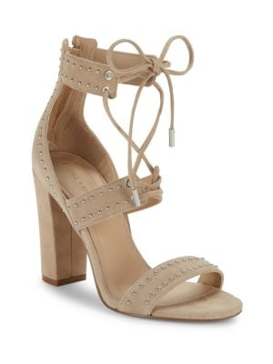 Dawn Studded Suede Lace-Up Sandals by KENDALL + KYLIE