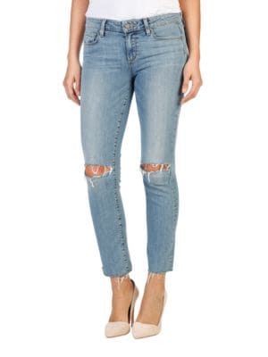 Distressed Skinny Jeans by 7 For All Mankind
