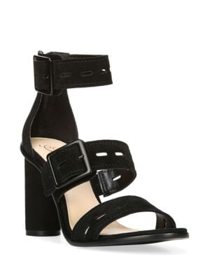 Open-Toe Suede Sandals by Fergie