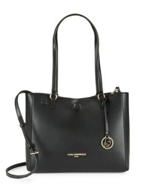Convertible Faux Leather Tote Bag by Karl Lagerfeld Paris