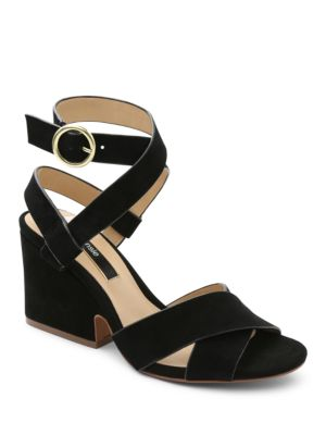 Edonia Crisscross Suede Sandals by Kensie