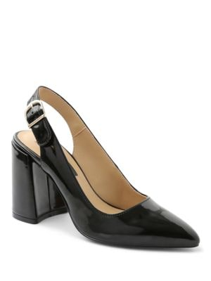 Tiffanie Point-Toe Leather Pumps by Kensie