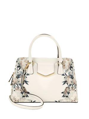 Floral Patterned Satchel Bag 500034672816