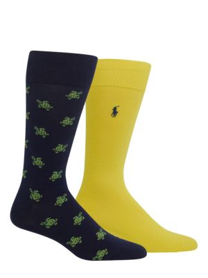 Mid-Cuff Cotton-Blend Socks/Pack of 2 by Polo Ralph Lauren
