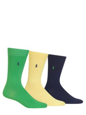 Solid Trouser Socks 3-Pack by Polo Ralph Lauren