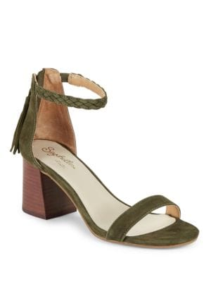Fury Suede Braided Strap Sandals by Seychelles