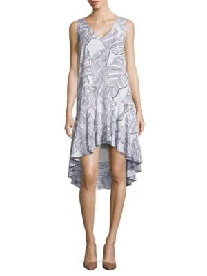 Nogales Solid Hi-Lo Dress by Paper Crown