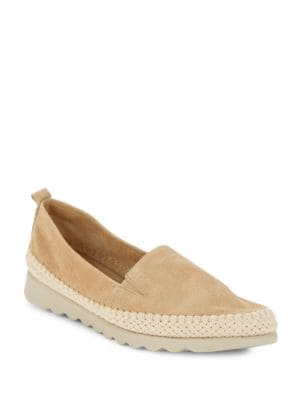 Rapido Dune Leather Espadrille Loafers by The Flexx