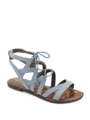 Gemma Lace-Up Leather Sandals by Sam Edelman