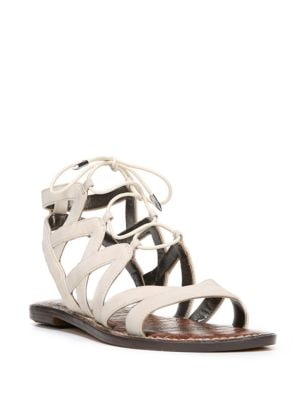 Gemma Leather Ghillie Lace Sandals by Sam Edelman
