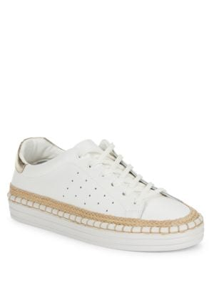 Kavi Leather Lace-Up Sneakers by Sam Edelman