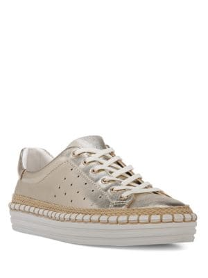 Kavi Lace-Up Metallic Sneakers by Sam Edelman