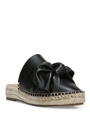 Buy Lynda Leather Bow Espadrilles by Sam Edelman online