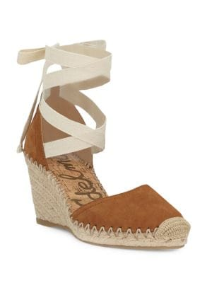 Patsy Ankle-Wrap Wedge Espadrilles by Sam Edelman