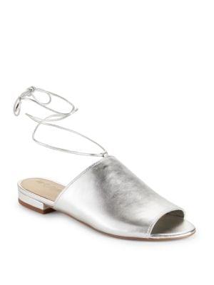 Tai Metallic Leather Slide Sandals by Sam Edelman