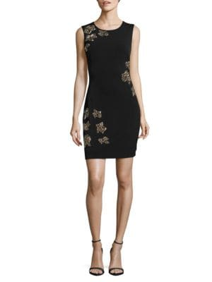??tudded Sleeveless Sheath Dress by Guess