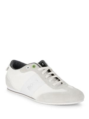 Suede-Trimmed Sneakers by Boss Hugo Boss