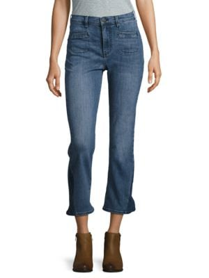 High Rise Cropped Flare Jeans by BUFFALO David Bitton
